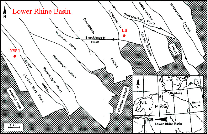 Map of Lower Rhine Basin