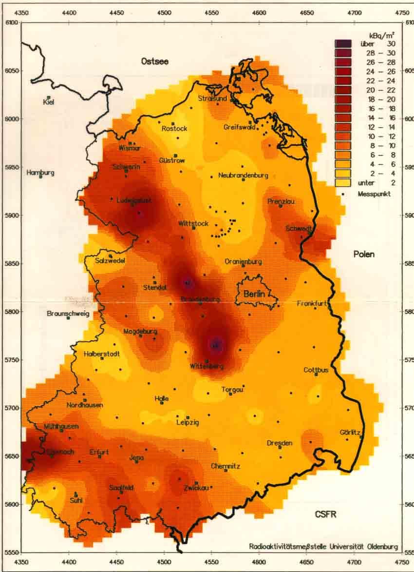 Tschernobyl Karte.Tschernobyl Messdaten Radioaktivität Carl Von Ossietzky