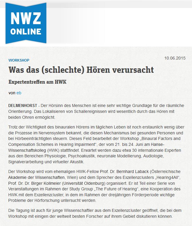 Presse-Archiv 2011-2015 — Carl von Ossietzky Universität Oldenburg
