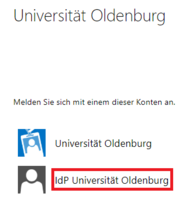[Translate to English:] Auswahl bei Anmeldung an Outlook im Web