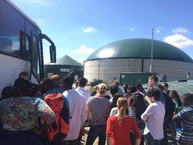 The excursion to the Biogas Plant Ganderkesee.
