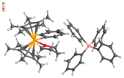 Molecular structure of a chemical compound obtained from a single crystal X-ray diffraction experiment