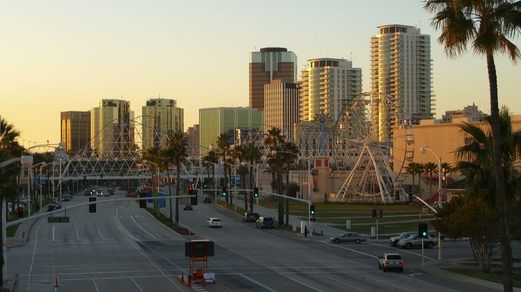 Skyline von Long Beach