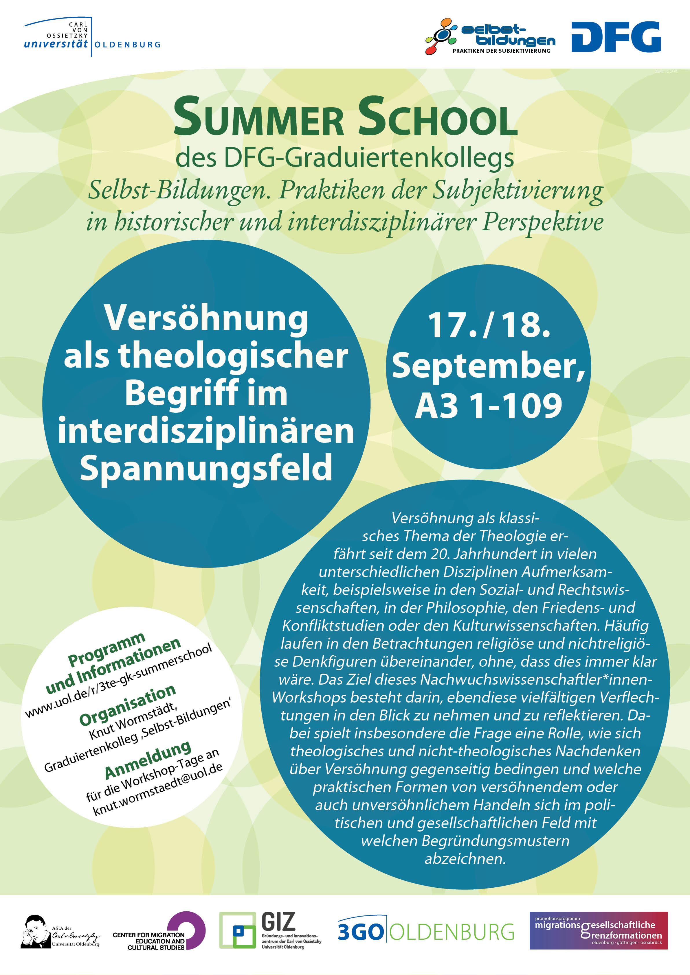Konferenzen, Workshops und Vorträge— Uni Oldenburg