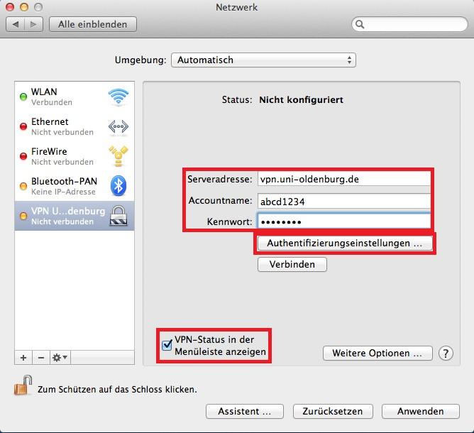 Cisco vpn client für mac os
